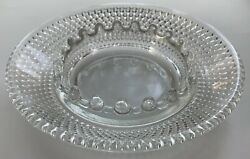 Collectible Lovely Vintage Indiana Glass Co. Clear Diamond Point Ashtrayeuc