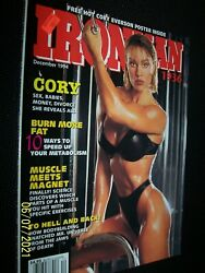 December, 1994 Iron Man .. Muscle Builder Cory Everson And Poster