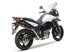 Two Brothers M2 Black Full Exhaust System Carbon Fits Suzuki Dl650 2012-2015