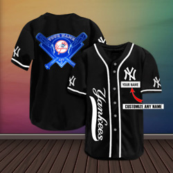 Hot New York yankees Baseball Jersey Personalized Name Mlb Fan Made S-5xl