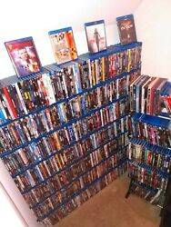 Over 900 Blu Ray Movies Some Steel Books, All Original Cases Inc. Books/totes
