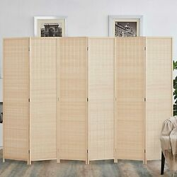 Bamboo 4 6 Panel Room Divider Partial Partition Freestanding Folding Wall Screen
