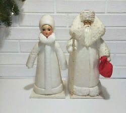 Antique Christmas Ornaments, Soviet Vintage, Santa Claus And The Snow Maiden