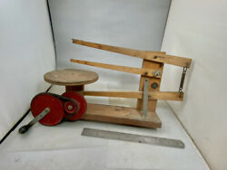 Vintage Gibbs Mfg Toy Scroll Saw Belt Driven Hand Operated Unusual