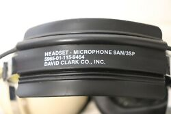 David Clark Pilot Airplane Flying Headset And Microphone 9an-3sp