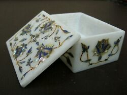 4x3 Inch Marble Bangle Box Abalone Shell Inlaid Trinket Box For Home Accessories