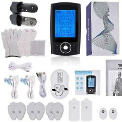 24-mode Tens Unit Rechargeable Digital Therapy Machine Full Body Massage Fullset