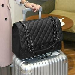 Quilted Women#x27;s Clutch Handbags Leather Travel Bag Large Shoulder Luxury Bags $49.90