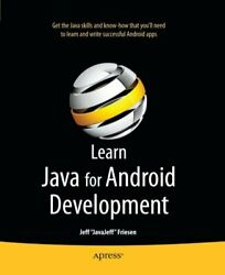 Learn Java For Android Development By Friesen Jeff Javejeff Paperback Book
