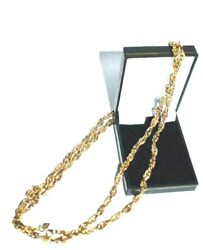 Amazing Chunky Choker Necklace Chain Weaving Gold Plated Sarah Coventry Vintage