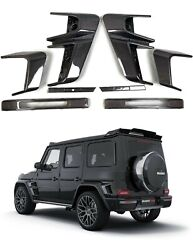 Carbon Fiber Bs Style Exterior Trims Fender Inserts For Mercedes W463a W464 G63