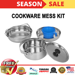 Camping Cookware Gear Set .5 Quart with Cup Lid Cooking Backpacking Kit New $17.99