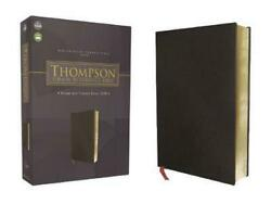 Nasb, Thompson Chain-reference Bible, Bonded Leather, Black, Red Letter, 1977 Te