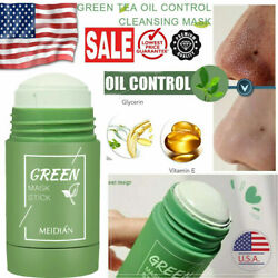 2Pcs Green Tea Purifying Clay Stick Mask Anti Acne Deep Cleansing Acne Remover