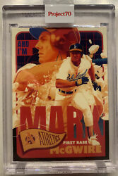 2021 Topps Project 70 Card 179 Mark Mcgwire 1965 By Matt Taylor