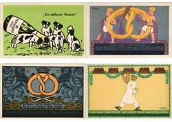 Germany Advertising 8 Vintage Postcards With Better L3724