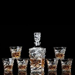 Whiskey Bottle Crystal Glass Russia Vodka Decanter Cup Home Bar Tools Decoration