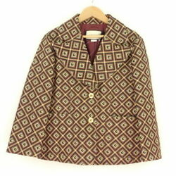 Square Jacquard Jacket Brown System 40 Cotton Other Tops Am1179w
