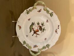 Herend Chop Plate With Handles In Excellent Condition. Andnbspfrom Hungary.andnbsp