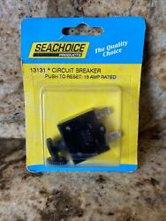 Seachoice Products 15 Amp Rated Circuit Breaker Push To Reset Current Pn 13131