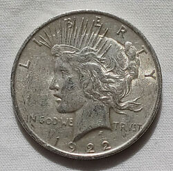 1922-s Liberty Peace Dollar Silver 1 Coin Us Currency Collectible