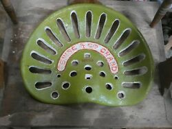 Dening And Co Chard  Vintage  Cast Iron Tractor Implement Seat Collectibles
