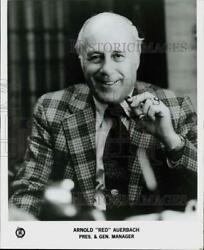 1984 Press Photo Boston Celtics President And General Manager Red Auerbach