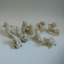 Dept 56 Snowbabies Collection Lot Of 9 1990s Era Figurines All Retired