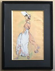 Drawing Original Watercolour Project Costume Mod Style Executive Board Françoise