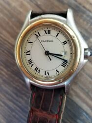 Cougar 18k And Stainless Steel Unisex Watch