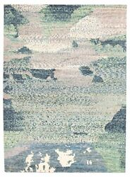 Modern Hand-knotted Carpet 9and0394 X 12and03910 Oriental Wool Area Rug