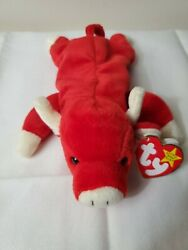 Snort 1995 Authentic Rare Beanie Babies Ty- Same Day Shipping Dob 5-5-1995