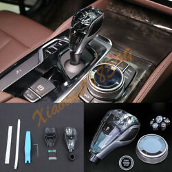Crystal Style Interior Gear Shift Knob Cover 3pcs Fit For Bmw 5 Series 2018-2022