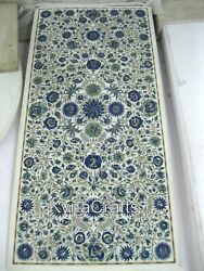 24x48 Marble Dining Table Top Lapis Lazuli Stone Inlaid Work Meeting Table