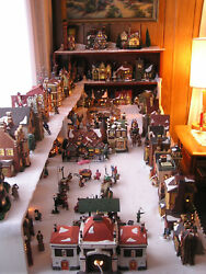 Huge Dickens Village Dept 56 Collection - 62 Buildings + People, Scenery, Access