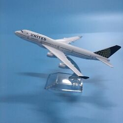 United Airlines Boeing 747 Us Airplane 1400 Aircraft Diecast Model Plane Toy