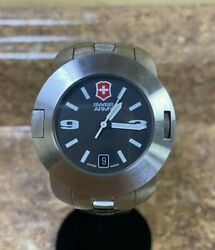 Victorinox Swiss Army Menand039s 24534 Sc 1000 Stainless Steel Watch Pre-owned