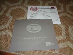 Signed Hall Of Fame 1999 Weekend Baseball Autograph Sheet Autograph Topps Cards