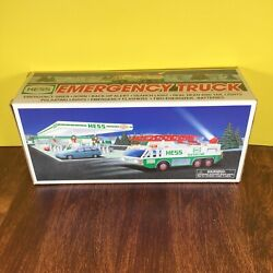 Vintage 1996 Hess Gas Station Emergency Truck Collectable In The Original Box.