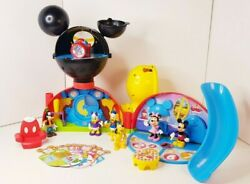 Disney Mickey Mouse Clubhouse Playset With Figures And Learning Cards Rare Htf