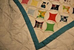 Vintage Cathedral Window Quilt Hand Sewn By Ursuline Nuns Toledo Oh 1668 Squares