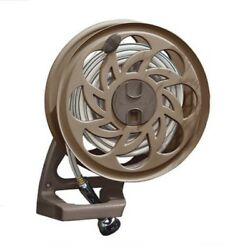 Suncast Cplsta125b 125and039 Wall-mounted Side Tracker Garden Hose Reel For 5/8 Hose