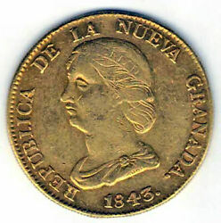 Colombia 16 Weights 1843 R.s. Bogota Gold @very Nice@