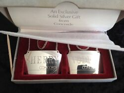 1986-silver Concorde Decanter Labels-tags-british Airways-aviation Collectable