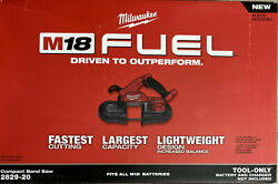 Milwaukee 2829-20 M18 Fuel Compact Band Saw Tool Only New