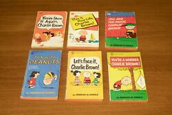 Vintage Cartoon Paperback Books - Peanuts And Charlie Brown - 1960's Collectibles