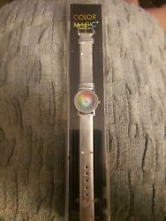 The Metropolitan Museum Of Art Color Magic Watch Silver Leather Band In Case