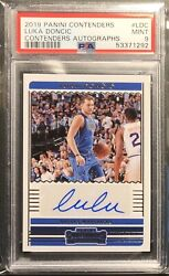 Luka Doncic 2019-20 Contenders Autographs /99 Psa 9 Mint 2nd Year Auto Mavs Roy