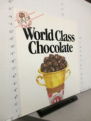 Baskin Robbins Ice Cream 1985 Store Sign World Class Chocolate Gold Trophy Cup