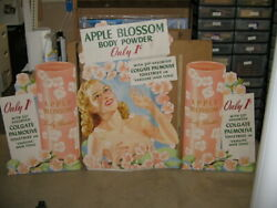 Colgate Palmolive 1950s Body Powder Pinup Nude Woman Store Display Standee 3